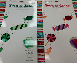 Kimberbell Sweet As Candy Colored Vinyl - Greens