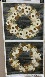 Autumn Beauties Metallic Vintage Panel