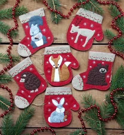 Christmas Critters Wool Ornaments