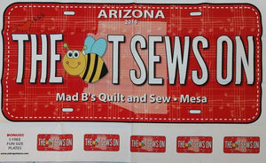 Bee License Plate LARGE