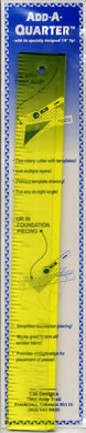This specialty ruler has a specially designed 1/4