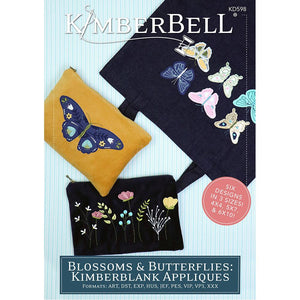The Blossoms and Butterflies Kimberbell Applique includes six delightful designs.