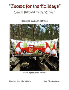 Gnome for the Holidays Bench Pillow & Table Runner Pattern