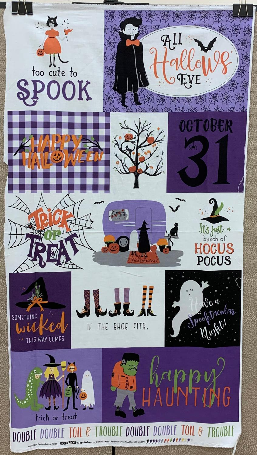 Hocus Pocus Purple Panel