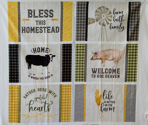 Homestead Life Placemat Panel