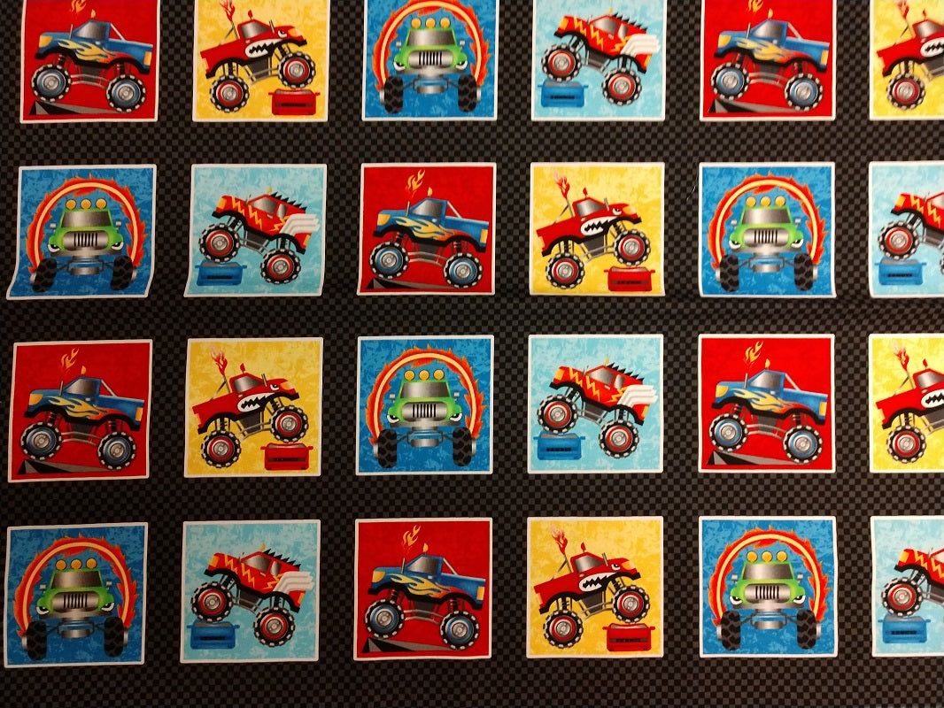 Monster Trucks squares panel
