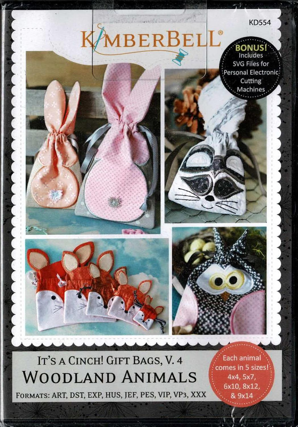 Kimberbell It's A Cinch! Gift Bags, Volume 4: Woodland Animals