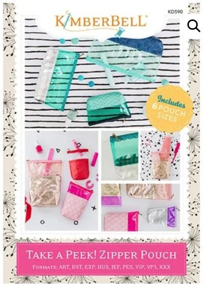 Kimberbell Take A Peek! Zipper Pouch Embroidery Software