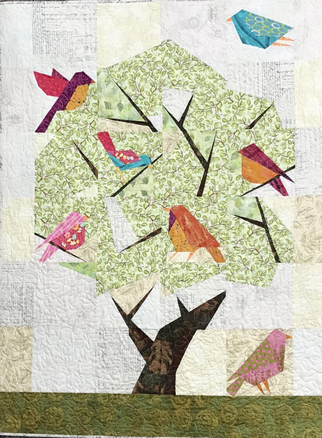 Laura Heine Collage Pattern - Audubon Society