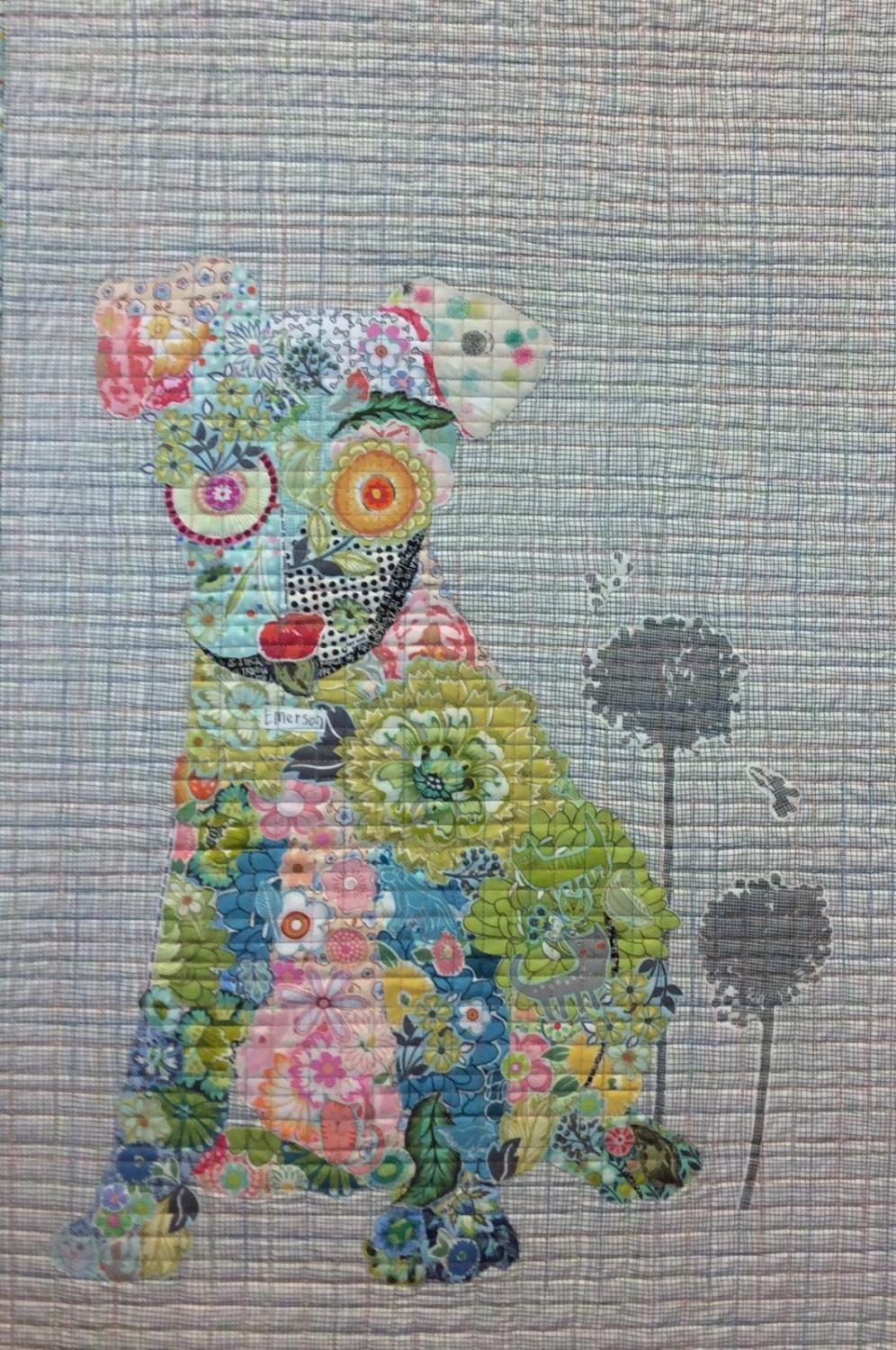 Laura Heine Collage Pattern - Emerson Puppy