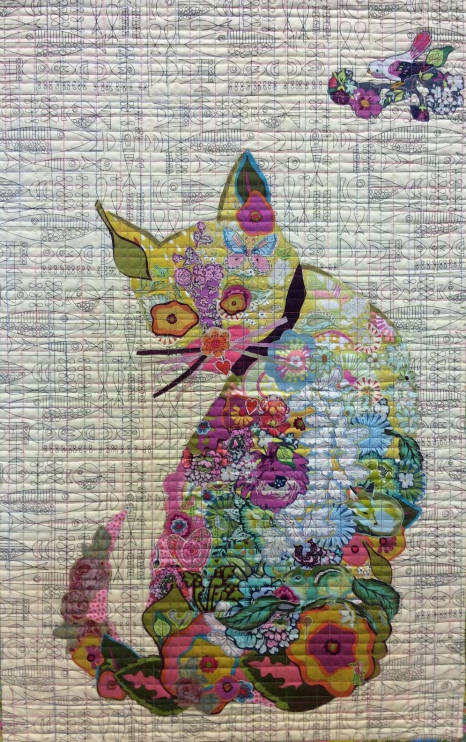 Laura Heine Collage Pattern - Purrfect...