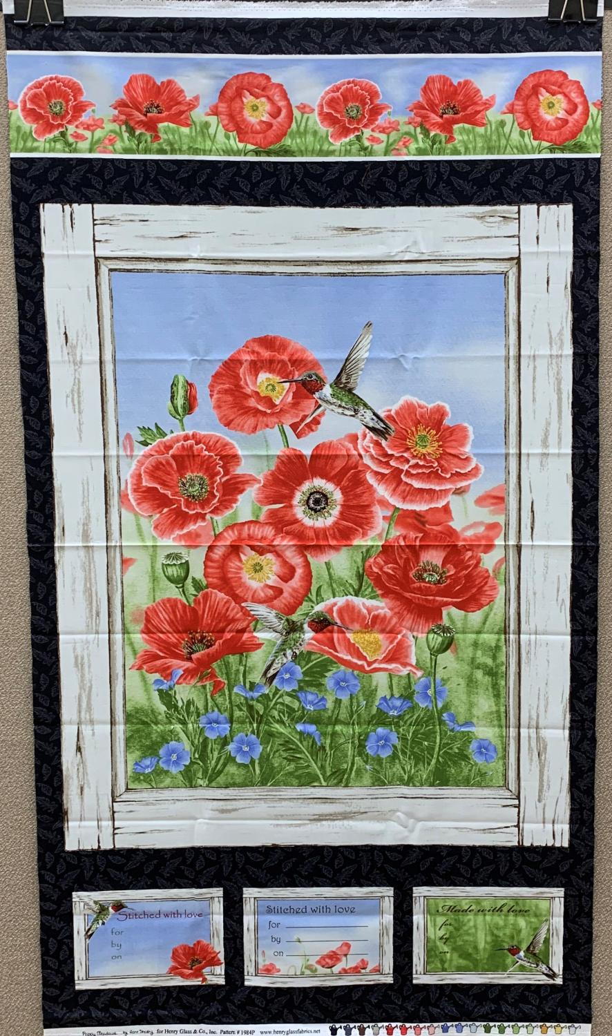 Poppy Meadows Panel - Red