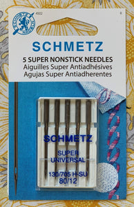 Schmetz 5 Super Nonstick Needles 80/12