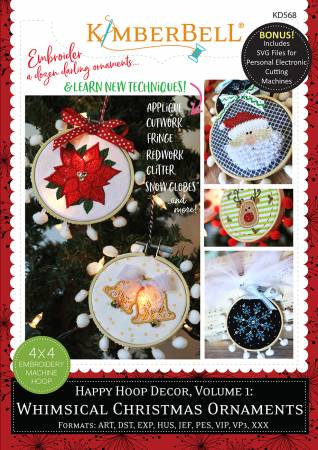 Kimberbell Happy Hoop Decor, Volume 1 - Whimsical Christmas Ornaments
