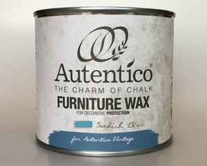 Autentico Colored Furniture Wax 250 ml Swedish Blue