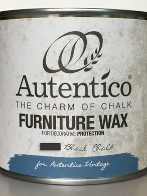 Autentico Colored Furniture Wax Black 250ml
