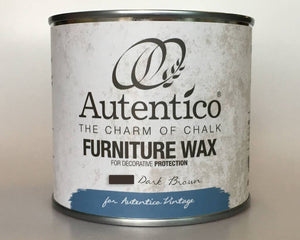 Autentico Colored Furniture Wax 250 ml Dark Brown