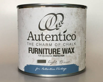 Autentico Colored Furniture Wax 250 ml Light Brown