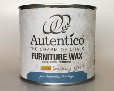 Autentico Metallic Furniture Wax 250 ml Sparkling Gold