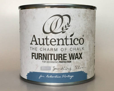 Autentico Metallic Furniture Wax 250 ml Sparkling Silver