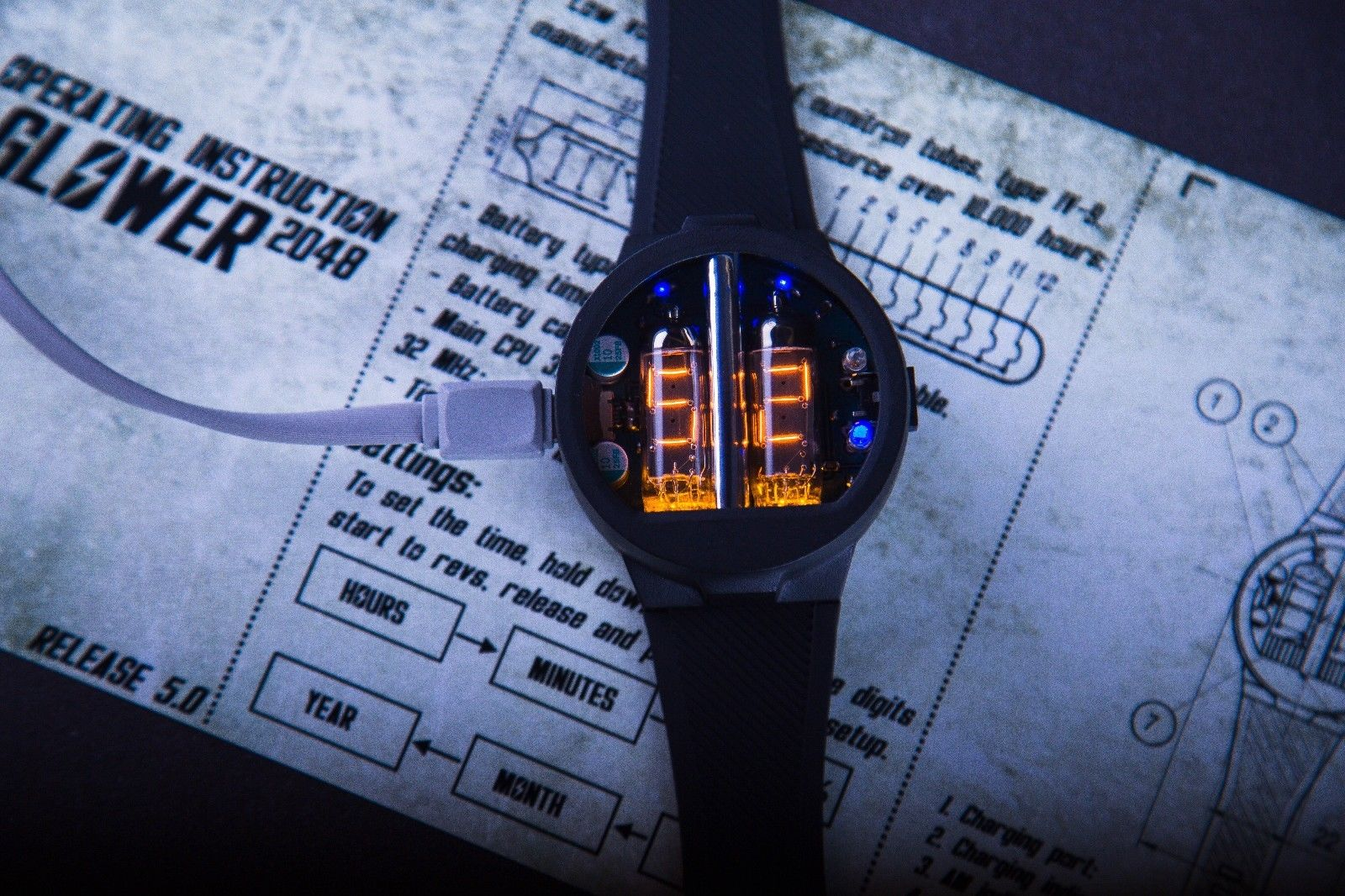 Nixie Tube Watch V5.0 Numitron - NixoidStore