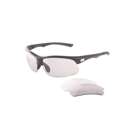JetBlack Jetstream Cycling Eyewear Gloss Black, Photochromic/Smoke/Clear Lenses