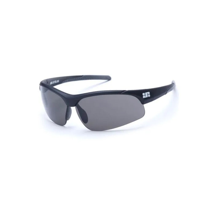 JetBlack Patrol Eyewear, Matte Black (Grey Tips) Smoke/Clear/Amber Lenses