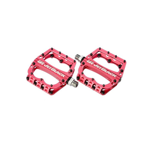 JetBlack Superlight Low Profile MTB Pedals,w Sealed Bearings/Cromo Axle Red