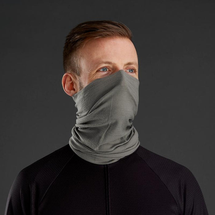 gripgrab multifunctional merino neck warmer grey face cover