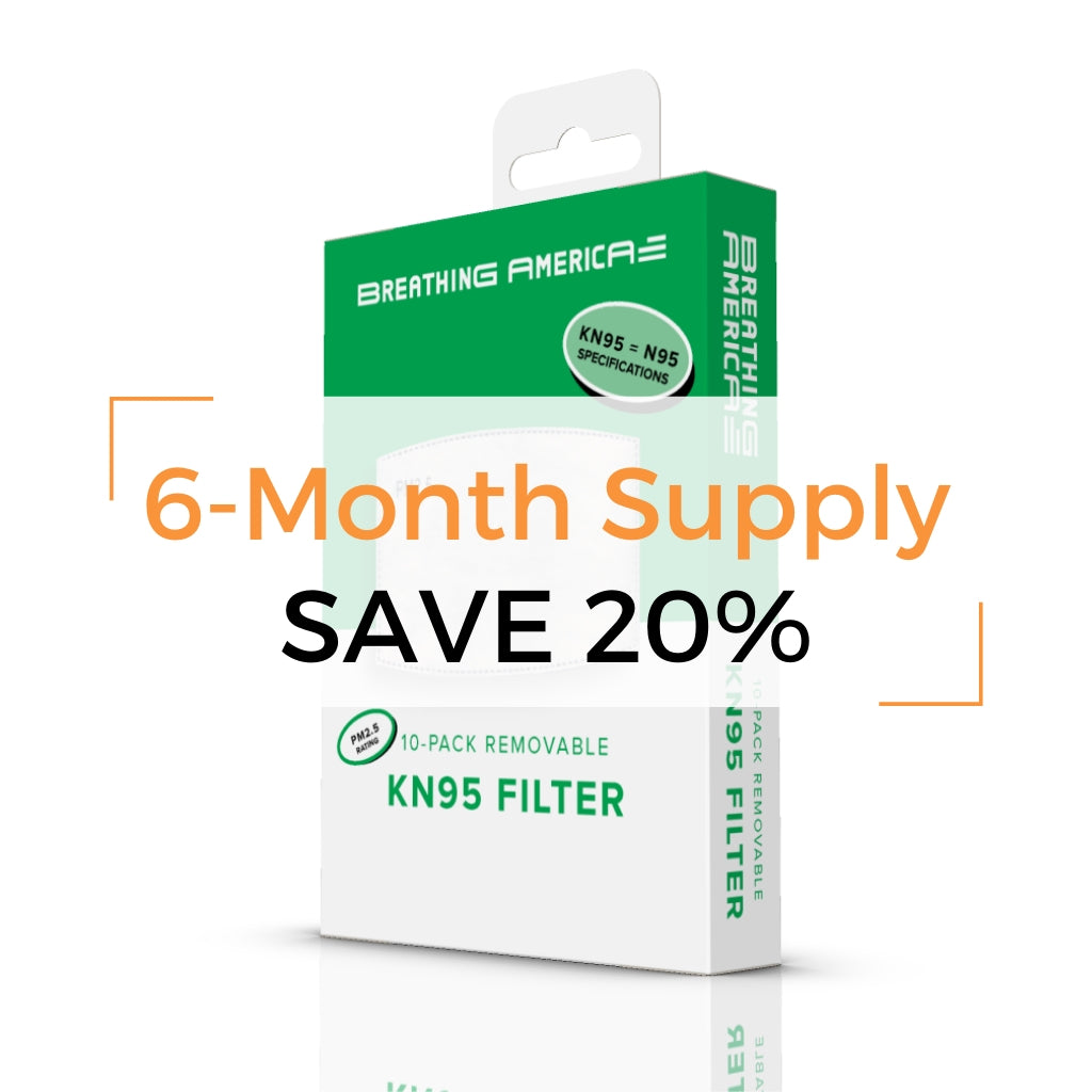 KN95 Filter 6-Month Supply 120pk