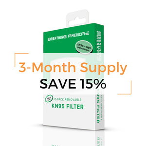 KN95 Filter 3-Month Supply 60pk