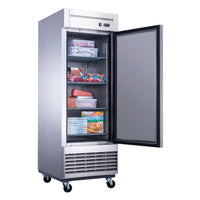 Dukers Single Door Commercial Freezer in Stainless Steel