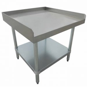 Economy Equipment Stands 18 Gauge 430 Stainless Top with Galvanized Under Shelf