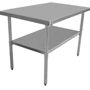 Economy Series Work Tables 18 Gauge 430 Stainless Top with Galvanized Under Shelf