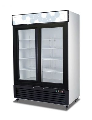 Migali 49 cu/ft Sliding Glass Door Merchandiser Refrigerator