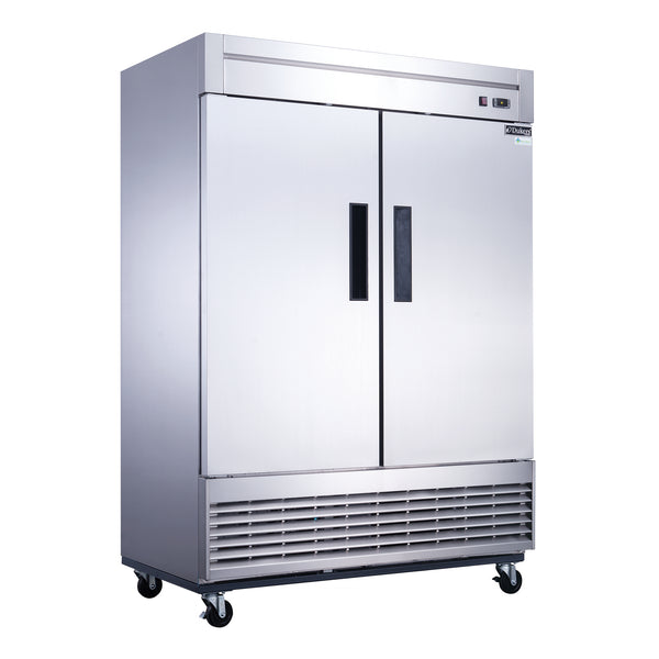 Dukers 2-Door Commercial Freezer in Stainless Steel