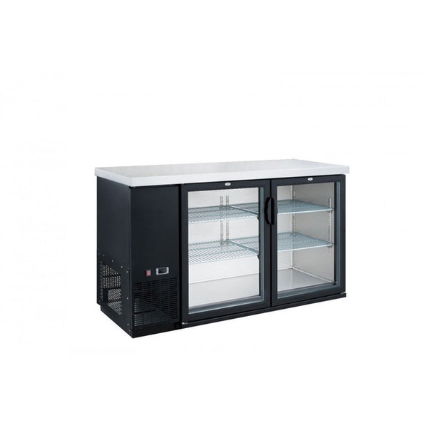 Dukers 2-Door Bar and Beverage Cooler (Hinge Doors)