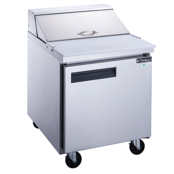 Dukers 1-Door Commercial Food Prep Table Refrigerator in Stainless Steel