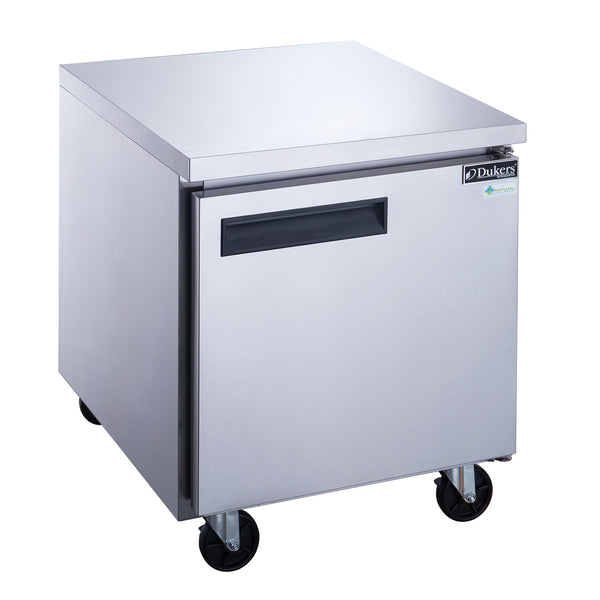 Dukers Single Door Undercounter Freezer in Stainless Steel