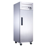 Dukers Commercial Single Door Top Mount Refrigerator in Stainless Steel