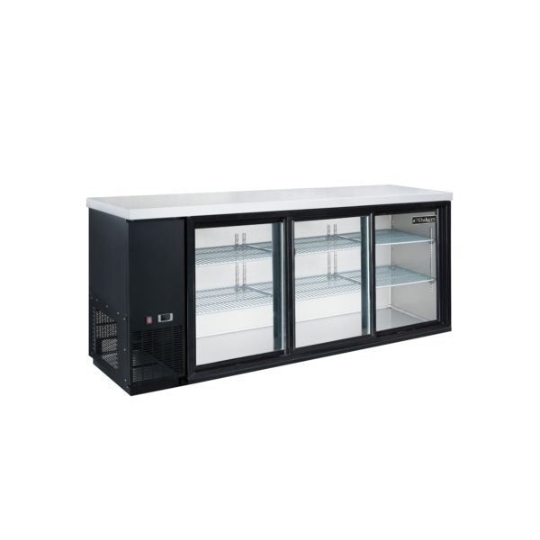 Dukers 3 Door Bar and Beverage Cooler (Sliding Doors)