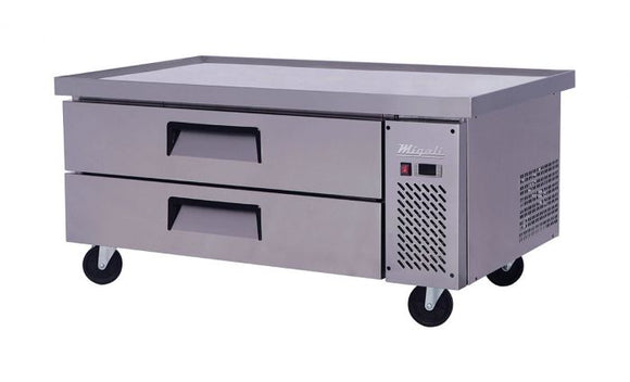 Migali 52″ Wide Refrigerated Chef Base with 60″ extended top