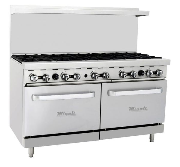 Migali 10 Burner Natural Gas Range & Oven