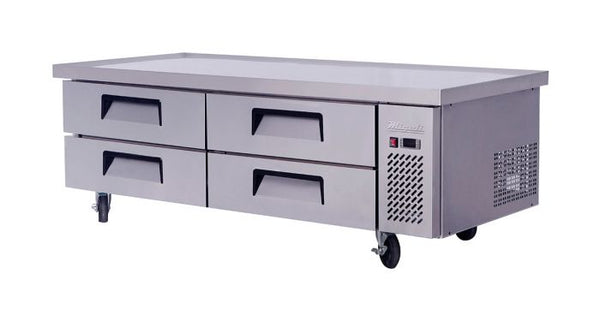 Migali 72″ Wide Refrigerated Chef Base with 76″ extended top