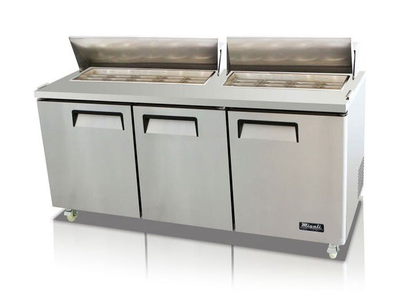Migali 72″ – 18 Pans, Sandwich Prep Table
