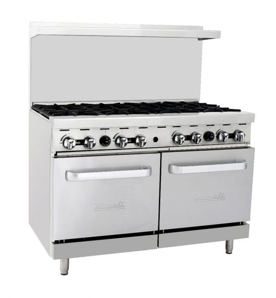 MIgali 8 Burner Range 2 Ovens Natural Gas