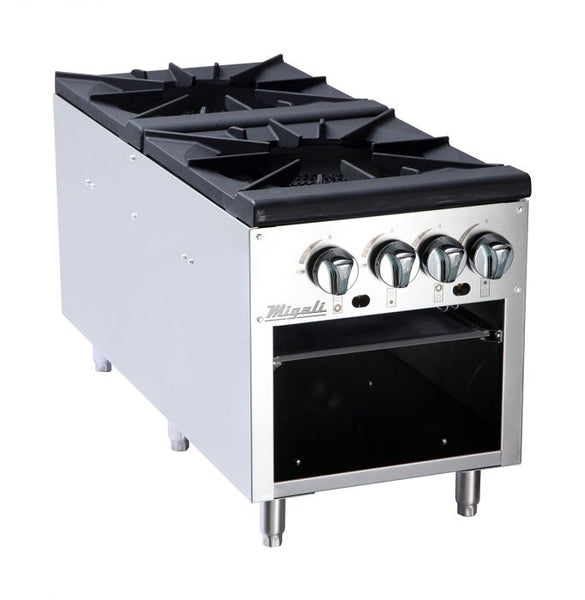 Migali 2 Burner Stock Pot Stove