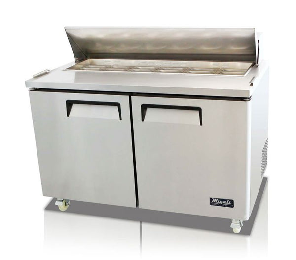 Migali 60″ – 16 Pans, Sandwich Prep Table