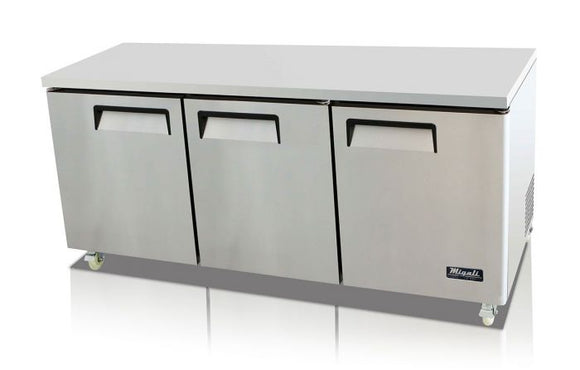 Migali 72″ Under-counter & Work Top Refrigerator