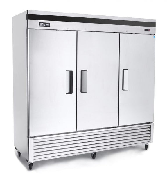 Migali 3 Door Reach-In Refrigerator